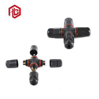 X Type 2 Pole 3 Pole 4 Way Screw IP68 Waterproof Connector