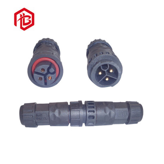 M19 3 Pole Push Lock, Self Lock, Field Installable Male and Female Waterproof Connector